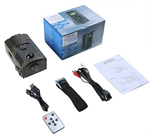 ANNKE and Wildlife Trail Camera, IP54 Security with IR LEDs Infrared Night Vision