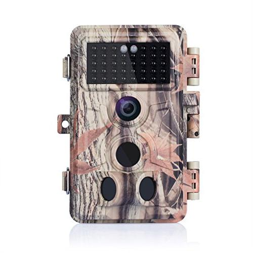 BlazeVideo 1080P No Trail Hunting Waterproof Scouting 2-PIR Activated 940nm IR 65ft Night & Model