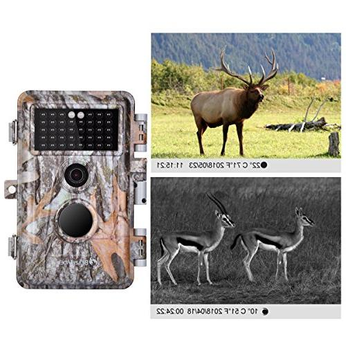 5-Pack Game Cameras Wildlife Lapse with Night Vision No No 940nm IR Motion Activated Waterproof 0.6S LCD