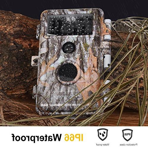 5-Pack 1920x1080P Game Cameras Wildlife Deer Hunting Time Lapse Vision No 940nm IR Waterproof 0.6S Trigger LCD