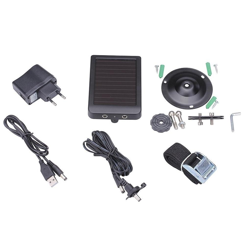 Hunting <font><b>Camera</b></font> 9V Solar Panel Charger for <font><b>Trail</b></font> Cam HC500G HC700
