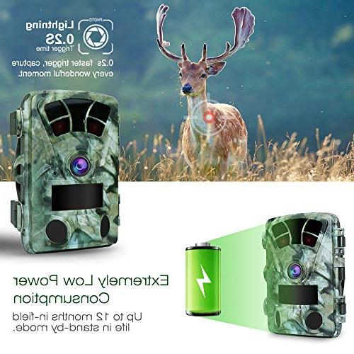 Camera Screen Fast Wide Flash Range Stealthy Game Cam Super High IR LEDs Night Vision Spray Water Protection