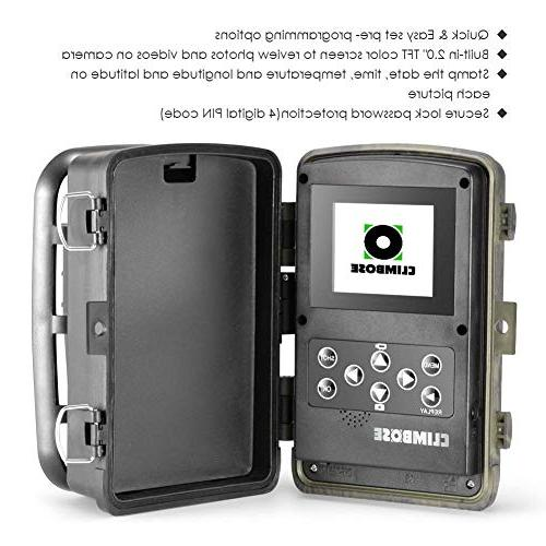 Climbose Hunting Trail Vision Hunting 65FT Wildlife 940nm IR LCD, Waterproof IP56, Instant Surveillance