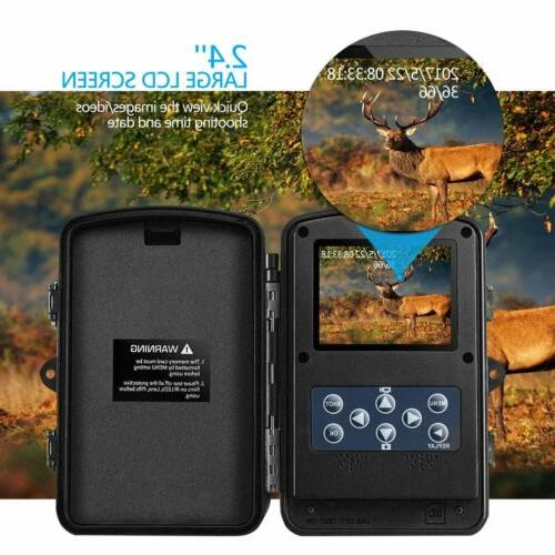 Infrared Vision HD 1080P 12MP Trail Cam TO