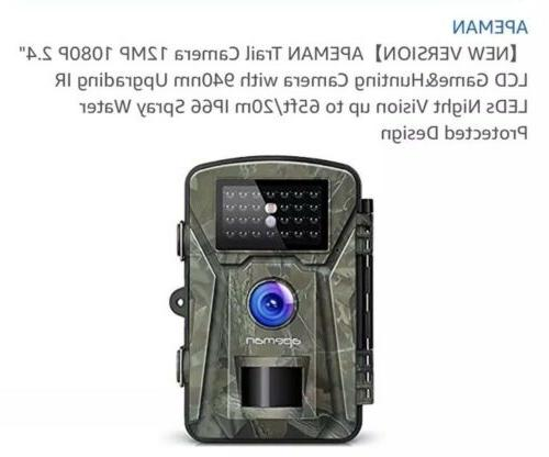 """【NEW Trail 12MP 1080P 2.4"""" LCD GameHunting"""