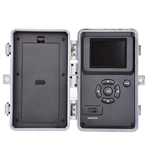"""BlazeVideo Deer Cameras 16MP Hunting Wildlife Night Vision Activated IP66 Lens Trigger No Glow 2.4"""" LCD Password Protection"""