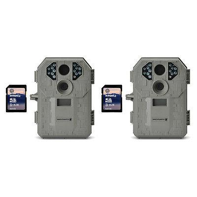 Stealth Cam P12 6MP Scouting Game Trail Camera, 2 Pack + 8GB