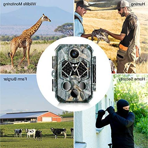 """ENKEEO PH770 Trail Camera 20MP 1080P with 45pcs IR LEDs Night Water Time, 2.4"""" Screen"""
