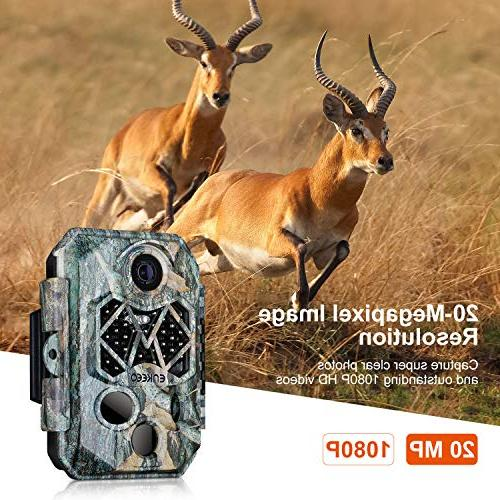20MP HD Cam Wildlife Hunting with 45pcs LEDs Vision, IP66 Water Time, LCD