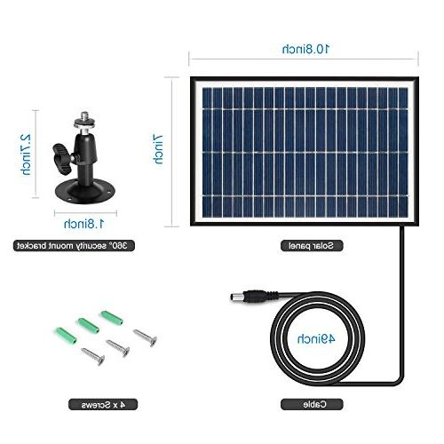 ARTITAN Solar 5W Charger for Game IP54 Waterproof 6V Output with Frame Hunting Cam Accessories