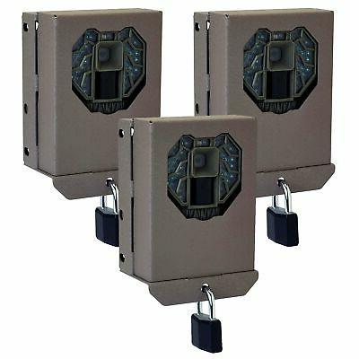 steel security trail game camera bear box