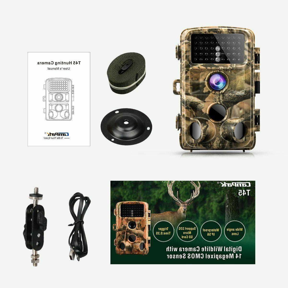 t45 14mp 1080p trail hunting game camera