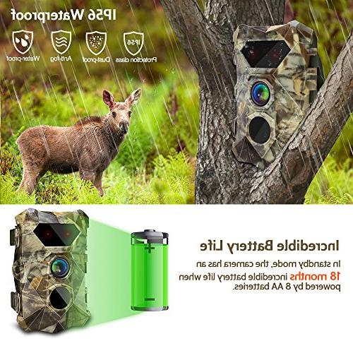 AIMTOM T903 Cameras, 16MP Stealthy Hunting Cam, 2Pcs No IR Night 0.3S Faster Trigger IP56 Outdoor Hunting, Home