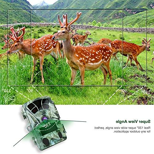 AIMTOM T905 Hunting Camera SD Card, Inch Screen Wildlife No Glow IR LEDs Angle 0.2S Fast Trigger 82Ft