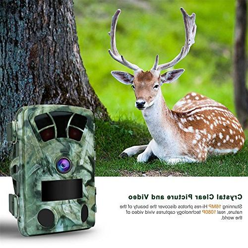 AIMTOM T905 Camera With SD Card, 16MP 2.4 Inch Screen Stealthy Waterproof Wildlife No IR 130° Wide Angle 0.2S 82Ft