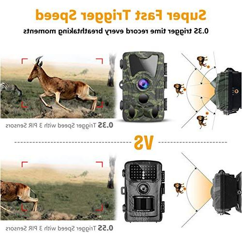 FHDCAM Hunting Cam with Motion Activated, HD, Vision, 120° Wide Lens, IP65 Camera - New