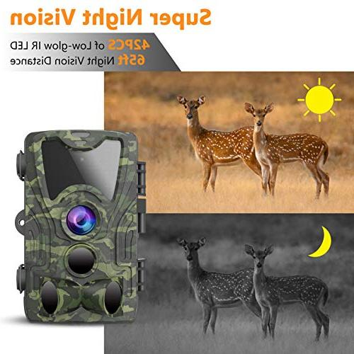 FHDCAM Trail Camera, Hunting Cam with Motion Activated, HD, Night Vision, 120° Lens, IP65 Waterproof Camera for New