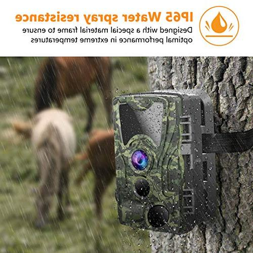FHDCAM Camera, Hunting Cam with Motion Vision, Lens, Waterproof Camera for New