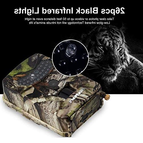 MixMart Trail 12MP 1080P Game Wildlife Scouting Camera with IR Vision Up 49ft/15m for Wildlife Security
