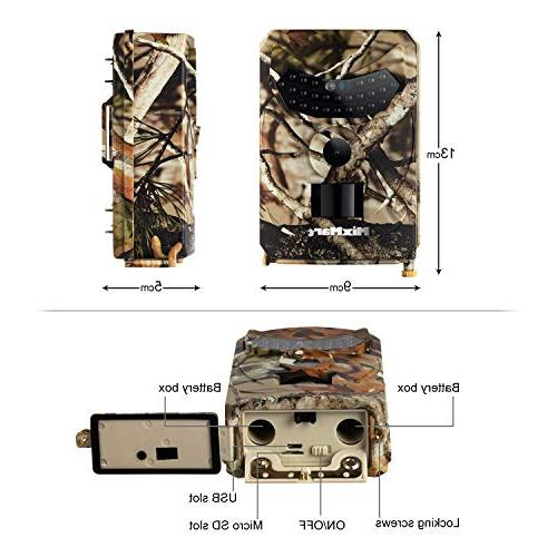 MixMart Trail Camera, 12MP 1080P Full Game Camera Wildlife Camera with IR Up to for Wildlife Security