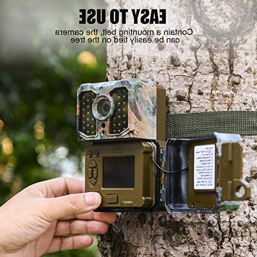 Kuool Trail Activated 850NM LEDs,1080P 16MP Game Cam,3 Sensors 0.2s Trigger Sensor LCD Display