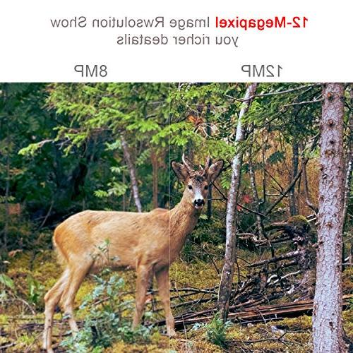 Wosports Upgraded 1080P 12MP Game Camera, Camera with Upgraded 2.4''LCD Home Security Wildlife