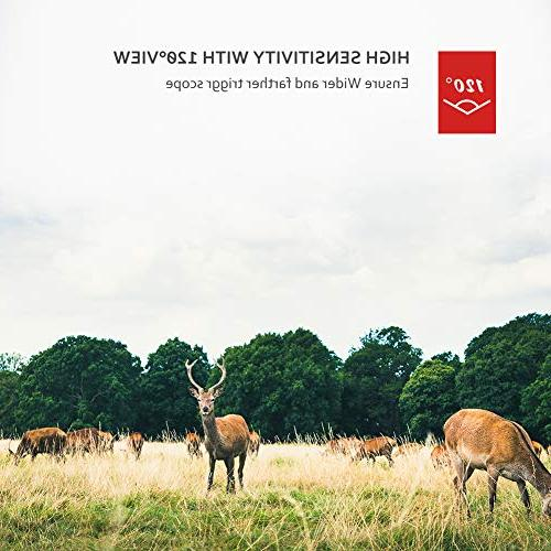 Victure Night Motion Waterproof 12MP Camera with 120°View Wildlife and