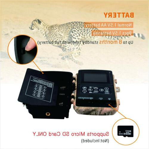 Campark Camera 1080P Hunting Cam 14MP Game Scouting