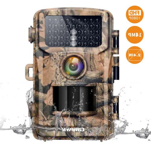 trail camera 1080p hunting cam 14mp wildlife