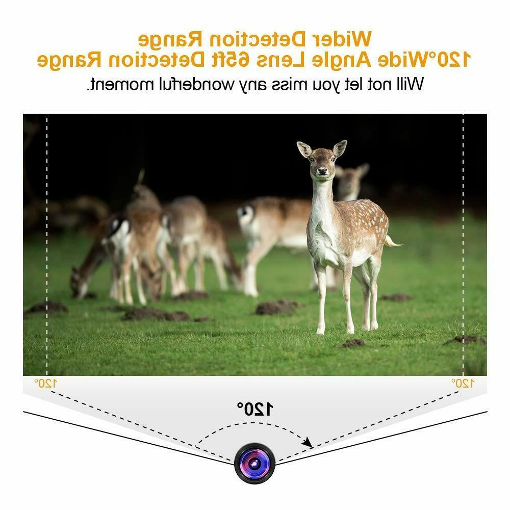 HD Upgraded Waterproof Game Camera 120°