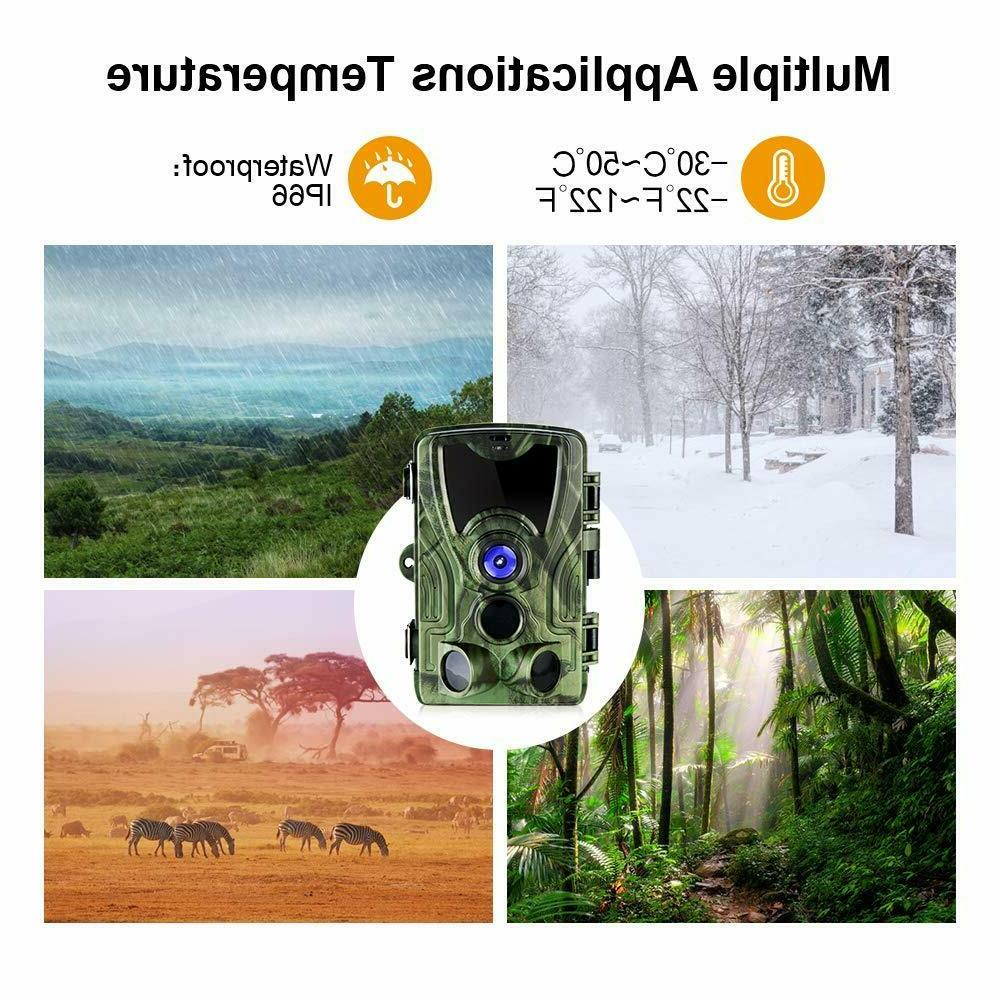 Trail Camera 1080P HD Waterproof Camera with 120°
