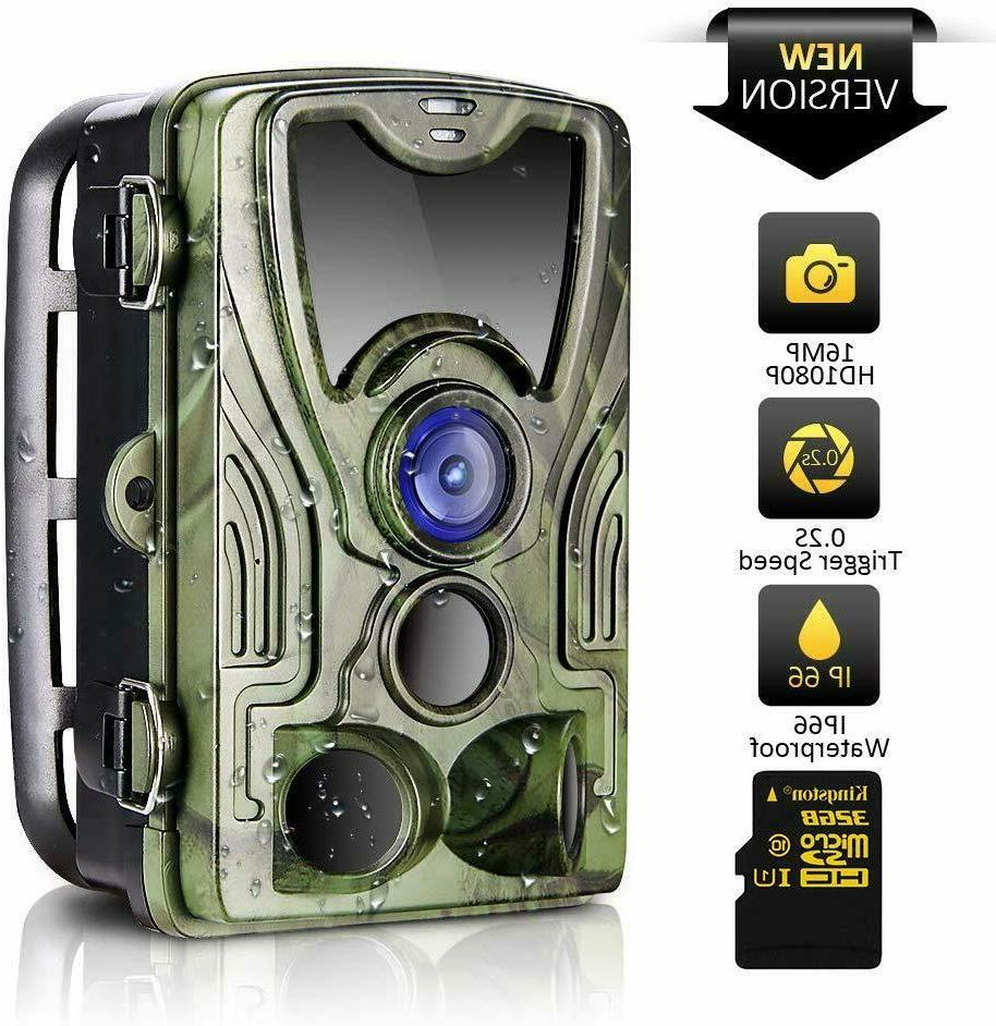trail camera 16mp 1080p hd 2019 upgraded