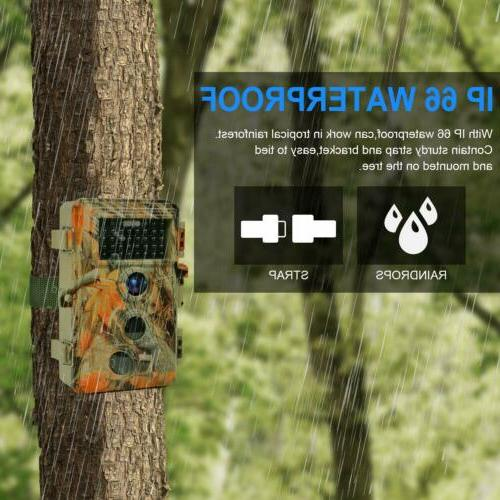 Trail Camera Waterproof Hunting with 120° Wide