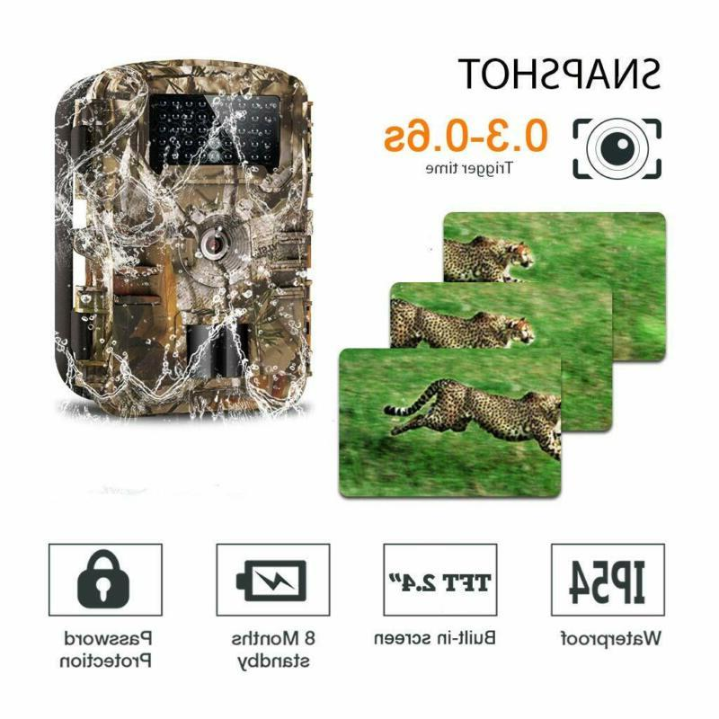 WOSPORTS HD Hunting Game Camera, 940nm Motion Activated