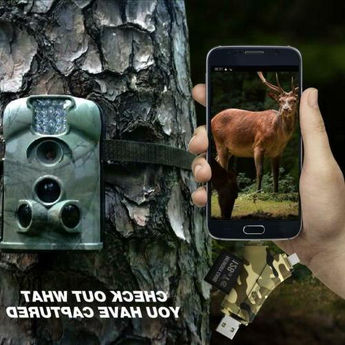 Trail SD & Micro Reader Wildlife Scouting Deer Hunter,Camouflage