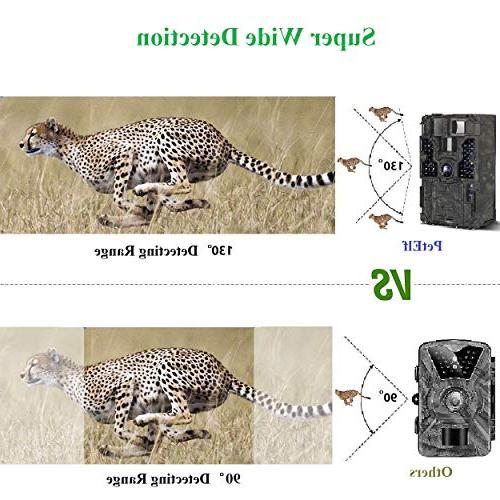 """Trail PetElf 1080P 16MP Hunting Trail Game Wildlife Cam IR Night Vision Motion Activated, 2.4"""" 3 PIR Speed Detection"""