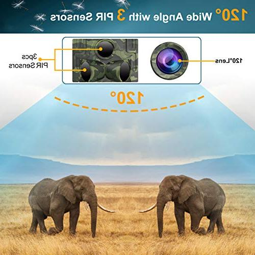 FHDCAM Trail 1080P FHD, Game Hunting Activated & Vision, 120° Lens, IP65 Waterproof Wildlife & Home Surveillance