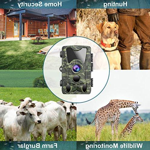 Trail Hunting Camera Activated 120° Lens, IP65 Waterproof Wildlife &