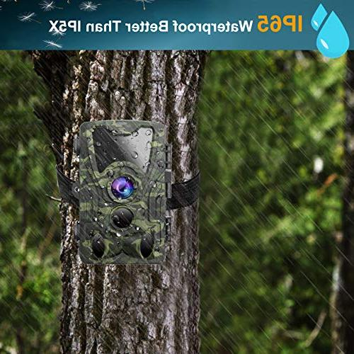 FHDCAM Trail 1080P Hunting Camera Activated 120° Waterproof Scouting Wildlife &