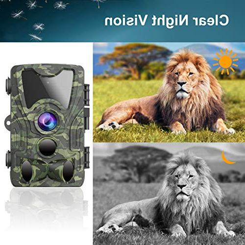 FHDCAM 1080P FHD, Hunting Camera with Activated 120° Angle Lens, IP65 Wildlife & Home