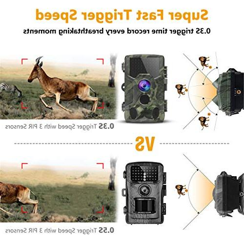 FHDCAM Hunting Cam with Activated, HD, Vision, 120° Lens, Waterproof Camera New