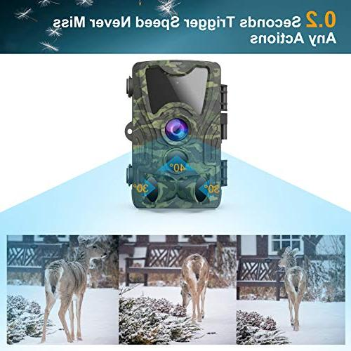 FHDCAM 1080P Wildlife Game Hunting with Activated Night Vision, 120° IP65 Wildlife &