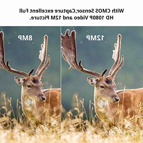 Trail Camera 16MP Game Camera with 2.4 inch 46 Infrared LEDs Night Vision 120°Wide Angle Camera Triggering Wildlife Camera