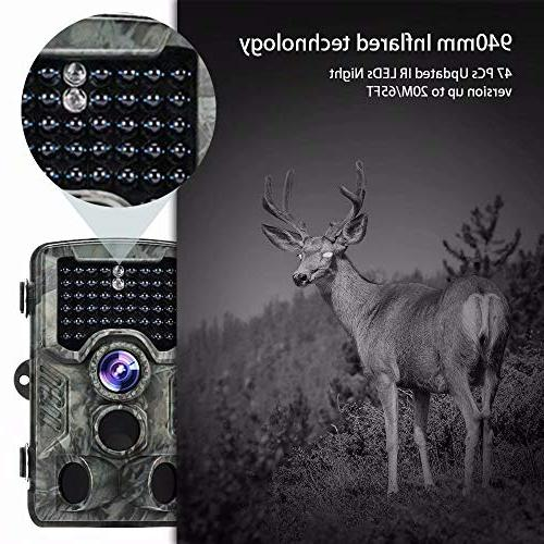 Trail 16MP Game 46 Infrared Night Vision 120°Wide Angle Hunting Camera 0.2s-0.6s Time Wildlife Camera