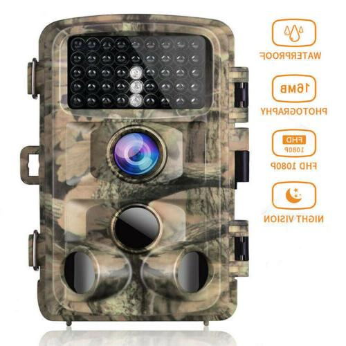 trail game camera fhd 1080p 16mp hunting