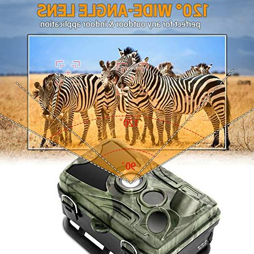 "Trail 2.4"" LCD Hunting 42pcs IR LEDs Infrared Vision to IP65 Waterproof Wildlife Animal"