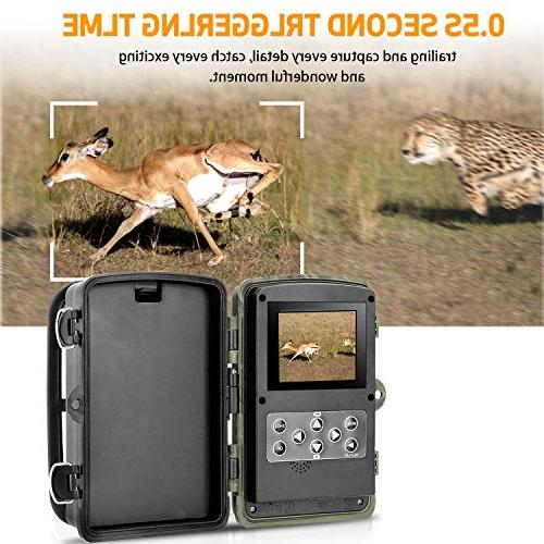 "Trail Camera 1080P 2.4"" Hunting IR Vision up IP65 for Animal"