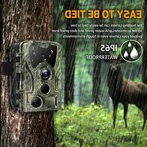 "Trail Camera 2.4"" & Hunting with 42pcs IR Vision up IP65 for Wildlife Animal Surveillance"