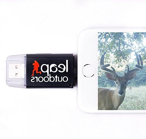 Leap Outdoors Trail Game Camera SD iPhone Works | Reads Micro