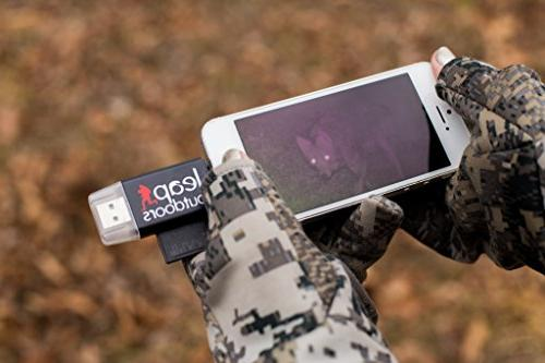 Leap Trail Game Camera Viewer SD Card iPhone or | Works with Cases Reads SD, SDHC, and Micro Cards